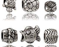 Balalabeads Damen-Beads Metall Glas ocean-TU-PB-SH-NT-GF-WV-metal