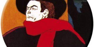 """FRIDOLIN Taschenspiegel, 7,6&nbsp,cm""""T. Lautrec: Botschafter aus Metall"""