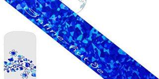 Transferfolie Blau-Camouflage-Hologramm