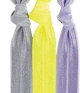 Twistband Haarb&auml,nder gelb, hellgrau, dunkelgrau, 1er Pack (1 x 3 St&uuml,ck)