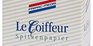 Fripac-Medis Le Coiffeur Spitzenpapier Spenderpackung mit Patent&ouml,ffnung, Blattgr&ouml,&szlig,e 75 x 55 mm, 500 Blatt, wei&s