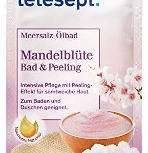 tetesept Meersalz &Ouml,lbad Mandelbl&uuml,te &ndash, Bad & Peeling - Zum Baden und Duschen - intensiv pflegend &ndash, 1 x 65 g