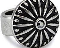 Pilgrim Jewelry Damen-Anh&auml,nger aus der Serie Charming versilbert grau 6.5 cm 421236105