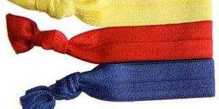 Twistband Haarb&auml,nder Alex rot, navy, gelb, 1er Pack (1 x 3 St&uuml,ck)