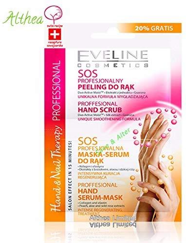 Hand- und Nageltherapie Hand Scrubs 6 ml und Masken-Serum 6ml EVELINE