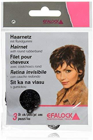 Efalock Professional Haarnetze, schwarz, 1er Pack, (1x 3 St&uuml,ck)