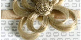 Love Hair Extensions Blume auf elastischem Kopfband Farbe M9B22 - Beige Blond-Strandblond, 1er Pack (1 x 1 St&uuml,ck)