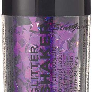Stargazer Form Glitter, lila Dreieck. Kosmetik Gliter Formen, die auf dem Gesicht oder K&ouml,rper verwendet werden k&ouml,nnen.