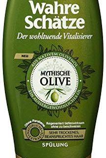 Garnier Wahre Sch&auml,tze Sp&uuml,lung, Mythische Olive, n&auml,hrt und regeneriert sehr trockenes, beanspruchtes Haar, ohne Pa