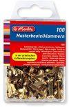 Herlitz Musterbeutelklammer, Metall, Rundkopf, 100 St&uuml,ck in H&auml,ngebox, messing