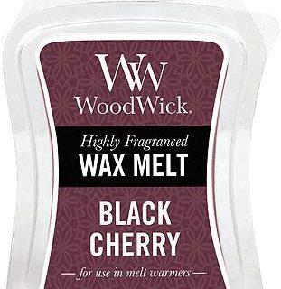 Woodwick Schwarze Kirsche Duftwachs zum Schmelzen, Plastik, violett, 5.7 x 7.3 x 2 cm