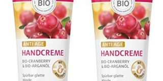 lavera Handcreme Anti Age mit Hyaluron a?? Bio Cranberry & Bio Argan&ouml,l a?? Handpflege f&uuml,r sp&uuml,rbar glatte H&auml,n