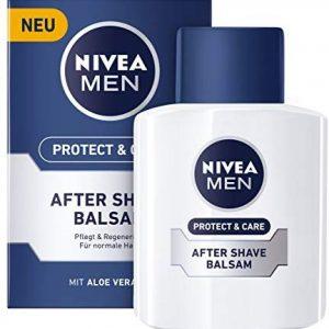 Nivea Men Protect & Care After Shave Balsam im 1er Pack (1 x 100 ml), Aftershave pflegt die Haut nach der Rasur, feuchtigkeitssp