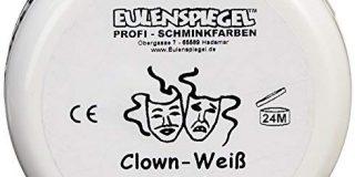 Eulenspiegel Profi-Schminkfarben GmbH Schminke Clown-wei&szlig, (1 x 50 ml)