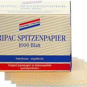 Fripac-Medis Professional Spitzenpapier Blattgr&ouml,&szlig,e 75 x 55 mm naturbraun ungebleicht, 1000 Blatt
