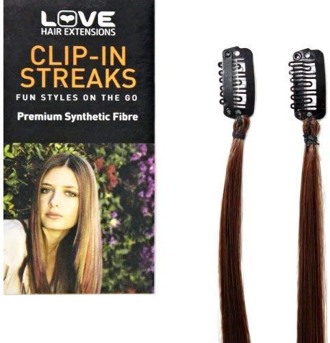 Love Hair Extensions Clip-In Haarverl&auml,ngerung Str&auml,hnen, 2 St&uuml,ck, Topaz