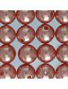 efco Wachs Perlen, Kunststoff, braun, 8&nbsp,mm Durchmesser, 32-teilig,