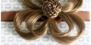 Love Hair Extensions Blume auf elastischem Kopfband Farbe 10 - Mittleres Aschbraun, 1er Pack (1 x 1 St&uuml,ck)