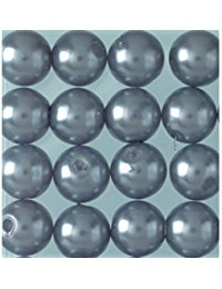 EFCO&nbsp,&ndash,&nbsp,Wachs Perlen, Kunststoff, rauch blau, 8&nbsp,mm Durchmesser, 32-teilig,