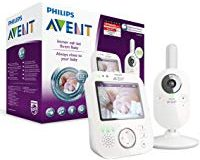Philips Avent Video-Babyphone SCD630-26, 3,5 Zoll Farbdisplay, ECO-Mode, 10 Std. Akku, wei&szlig,-grau