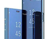 Kompatibel mit Samsung Galaxy S9 Plus H&uuml,lle Mirror Case Spiegel Handyh&uuml,lle PU Leder Flip Case Cover Handy Schutz Echtl