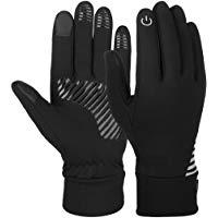 Vbiger Herren Touchscreen Handschuhe Winterhandschuhe Anti-Rutsch Outdoor Sport Handschuhe Fahren Radfahren Handschuhe mit Fleec