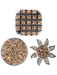 Berydale Damen Click-Button Set 3 St&uuml,ck Druckkn&ouml,pfe