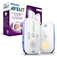 Philips Avent SCD501-00 Audio-Babyphone mit DECT-Technologie, Nachtlicht, Ger&auml,uschpegelanzeige, wei&szlig,-blau