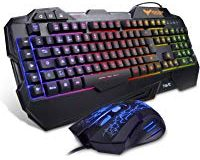 HAVIT Gaming Tastatur und Maus Set, LED