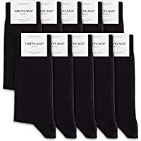 Greylags 5-10 Paar PREMIUM Socken gek&auml,mmte Baumwolle bequem ohne dr&uuml,ckende Naht